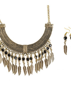 Fancy necklace with matching earrings